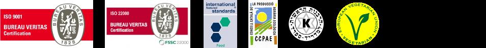 Certificats dels nostre productes